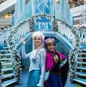Frozen no Natal do Shopping Estação
