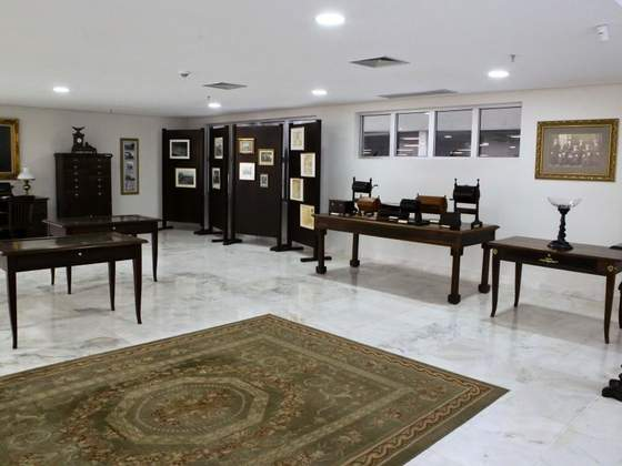 Exposição permanente do Museu da Justiça