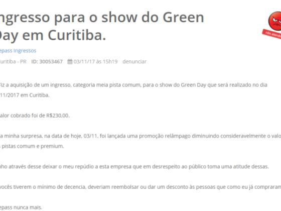 8cf815bf6bdee Preço do ingresso do show do Green Day em Curitiba baixa até R  480 ...