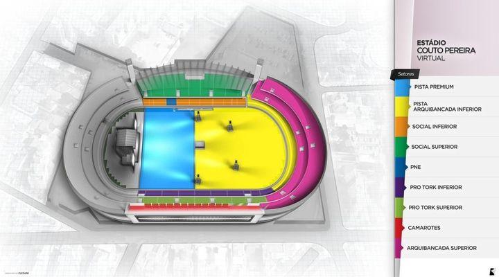 Veja o mapa com os setores do show do Maroon 5 em Curitiba