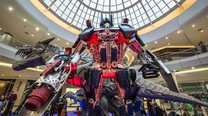 Último final de semana para ver a exposição de Transformers gigantes em Curitiba