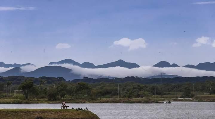 Novo parque em Pinhais tem mega vista da Serra do Mar