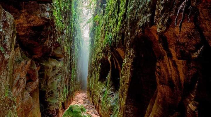 Fenda do Nick: conheça o passeio que passa por gigantes paredões em Tibagi