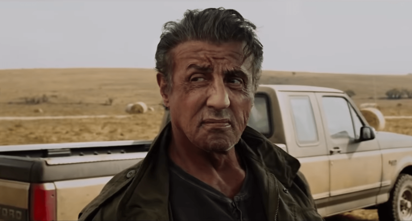 Sylvester Stallone no filme Rambo V, agora mais maduro.