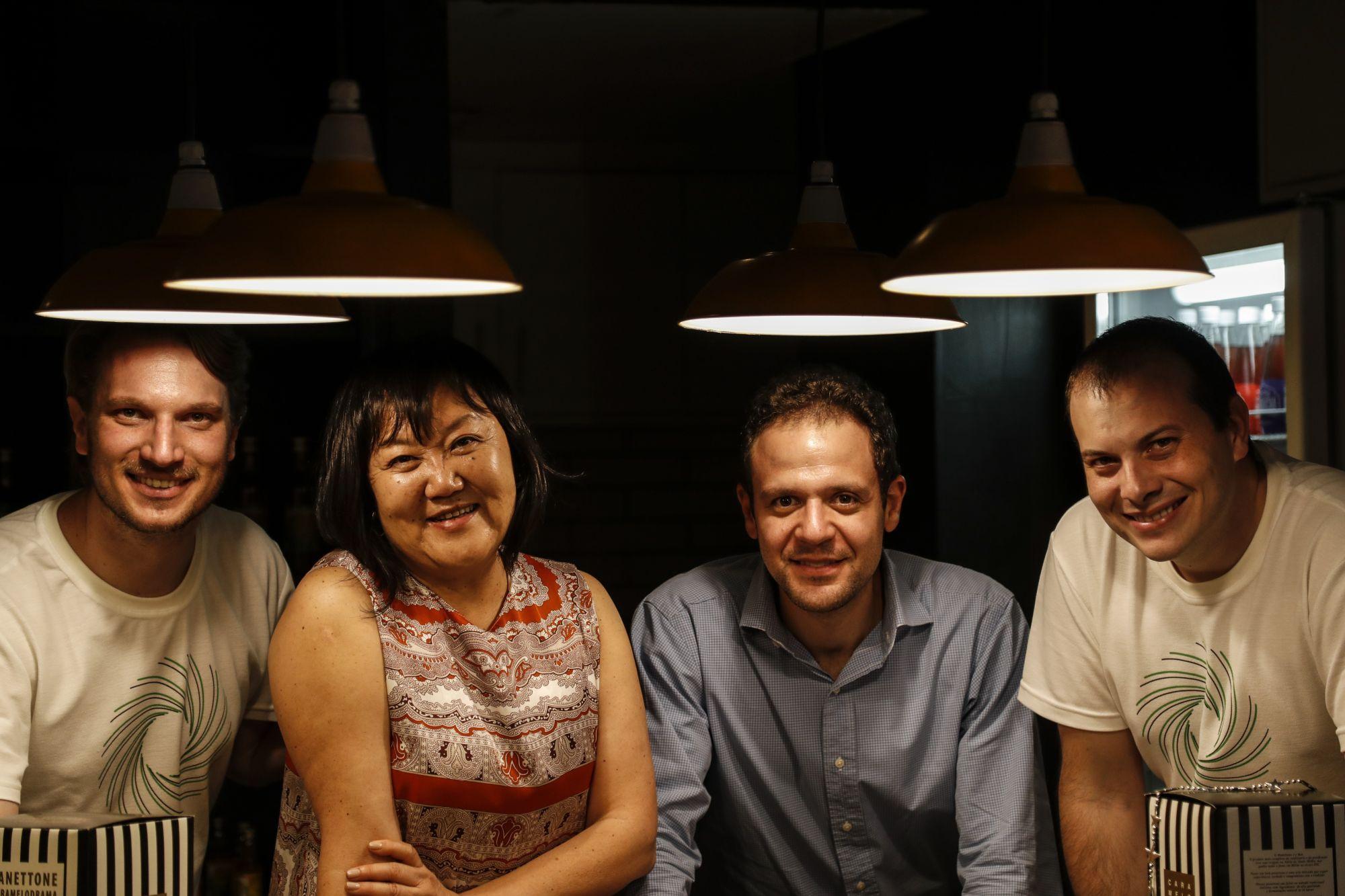 Os sócios, a partir da esquerda: Luiz Mileck, Soon Hee Han, Paulo Celles e Renato Bedore. Foto: Jonathan Campos/Gazeta do Povo
