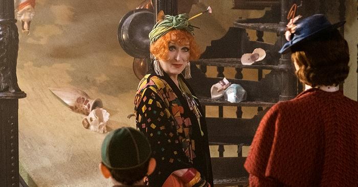 Meryl Streep concordou prontamente a participar de O Retorno de Mary Poppins. Ela interpreta Topsy, prima da protagonista
