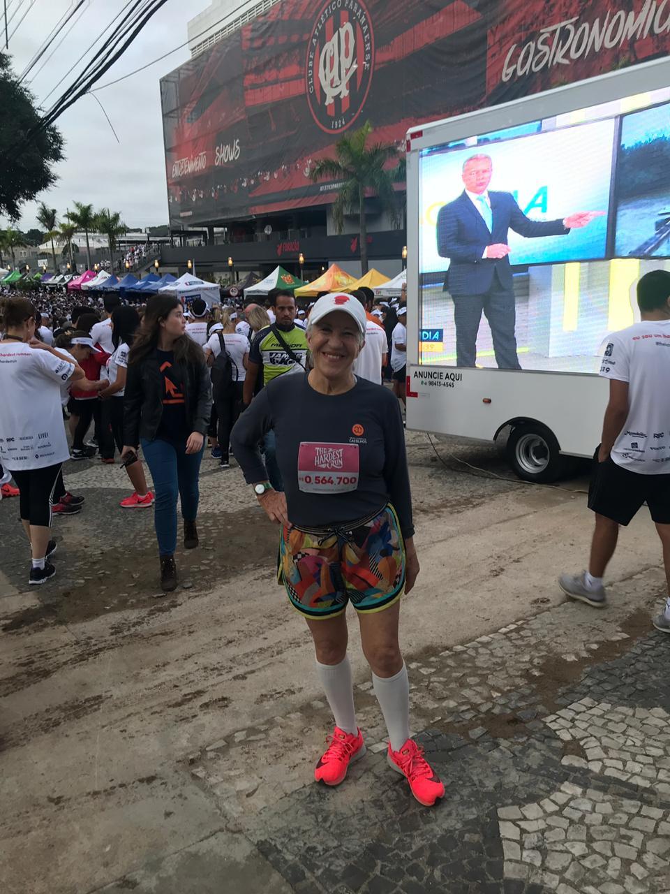 A corredora Almira Castilhos de Lima tem 80 anos e 19 maratonas no currículo. Foto: Camila Machado/Gazeta do Povo.