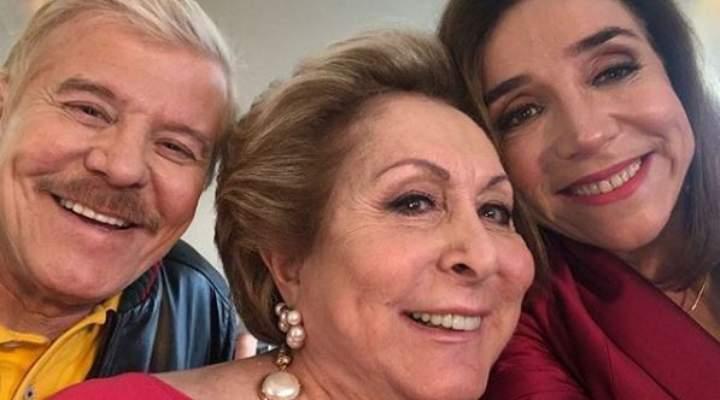 Falabella, Aracy Balabanian e Marisa Orth filmam longa de Sai de Baixo