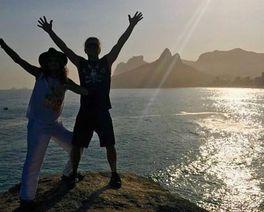 Steven Tyler está curtindo o Rio adoidado e Curitiba o espera no Largo da Ordem