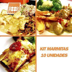 Kit com 10 marmitas Fit | Good Food Market